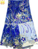 2014 african french net lace/ royal blue african lace