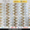 silver 3D glass mosaic models tiles for bathroom