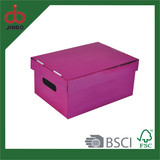 Decorative metallic paper storage box