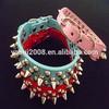 Metal rivet dog collars , fashion collars