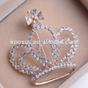 Stylish Rhinestone Crown Brooch For Women