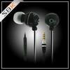 Extra bass stereo earphone in-ear flat wire metal earphones with mic
