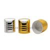 CL-C424B metal thread disc top cap, press cap, cosmetic bottle cap, dispensing lids closures