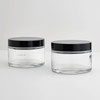 200ml cylinder straight-sided glass cosmetic jar with lid wholesale & custom design
