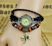 Rococo F1004 Retro&Punk Watch High quality ROMA watch header Vintage Antique Women Cow Leather Watch