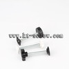 Thumb screw of hand tighten plastic head screw with rubber washer