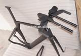 China OEM manufacturer 3K UD 12k weave carbon TT frame matte or glossy