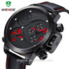 3 ATM chronograph genuine leather sport watch men best-sll on alibaba
