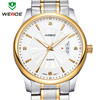 China made 30m waterproof silver and gold chronograph stainless steel watches with date