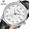 Fashion Man Stainless Steel Case Genuine Leather Strap Watch