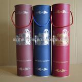 Hot-sale luxury decorative 2014 wine paper tube box