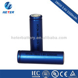 Heter 18650 3.7V 2200mAh LiFePO4 Lithium ion Battery Cell