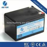 Lithium ion LiFePO4 12V 12Ah Battery Pack for Emergency light,Solar energy storage system