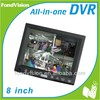 8 inch 4CH H.264 standalone all in one DVR