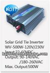 solar panel collocate with grid tie inverter KD-WV500W-120VAC