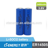 3.6V lithium primary battery ER14505 LiSOCI2 battery