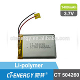 3.7V Li-polymer rechargeable battery CT504260