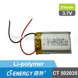 CT502035 lithium polymer battery 3.7V