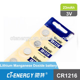 vinnic high capacity button cell battery CR1216