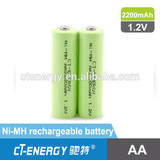 1.2V 2200mah aa Ni-MH rechargeable battery
