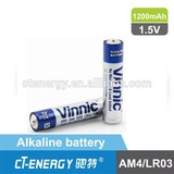 battery 1.5 volt AAA Alkaline battery AM4/ LR03