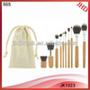 10pcs Bamboo cosmetic brush set