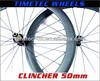 700C CARBON CLINCHER WHEELS 50MM