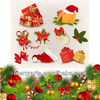Hot selling new style christmas hanging decorated felt xmas stocking decoration for sale