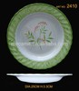 "2406-2411 6""-11"" melamine wave soup weight plate for hotel"