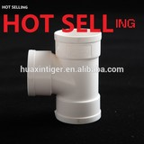 Hot sell PVC drainage fittings, plain tee 75mm, 90mm, 110mm, 160mm, 200mm, 315mm equal/un equal Tee