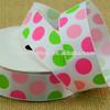 Colorful ribbon printed Dots