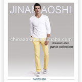 satin slim fit cotton blend trousers