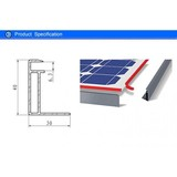 Black Matt PV Frame 40 X 30 MM in USA and Europe Market for 250W and 300W Solar Panel Module with Double Glass