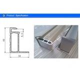 250 Watt Solar PV Module Aluminium Hollow Section , Solar Panel Mounts Extruded Aluminum Framing