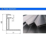 Extrusion Aluminum Solar Panel Frame Profile with Silver Anodizing Treatment 40 mm * 35 mm