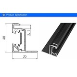Solar Panel Black Aluminium Frame With Corner Key , Extrusion Aluminium Edge Profile For PV Mounting Systems