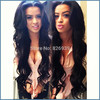 U part human hair wigs 150% density Mongolian virgin hair body wave natural color u part wigs