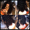 Top Quality Brazilian Virgin Hair U Part Wig 100% Human Hair Deep Curly Wig All Length In Stock With Best Service