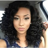 Top Quality Product Loose Curly Lace Front Human Hair Wig Virgin Peruvian Hair Lace Wig With Baby Hair Free Shipping By DHL