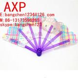 Plastic 7 folder fan for promotion