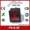 Hot illuminated dpdt 4 pins rocker switches for Egypt washing machine