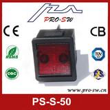 Hot illuminated dpdt 4 pins rocker switches for Egypt washing machine