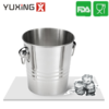 single wall Stainless Steel Ice Bucket Wine Cooler Champagne Cooler with handles