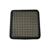 Black Gel Car Seat Cushion, Backing Black PU Leather