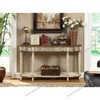Antique console table  console table attached to wall wooden console table M-909