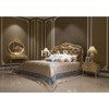 Italian leather bed Latest Wooden Furniture Designs Antique Carved Bed room bed furniture sets