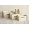white set 4 rect wood storage box