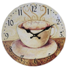 Coffee dial MDF wall clock wood clock 34X34