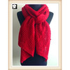 Red knitted scarves for women, more solid colors are welcome to bespoke in our china scarf factory