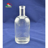 750ml frosted logo decal glass vodka bottle
